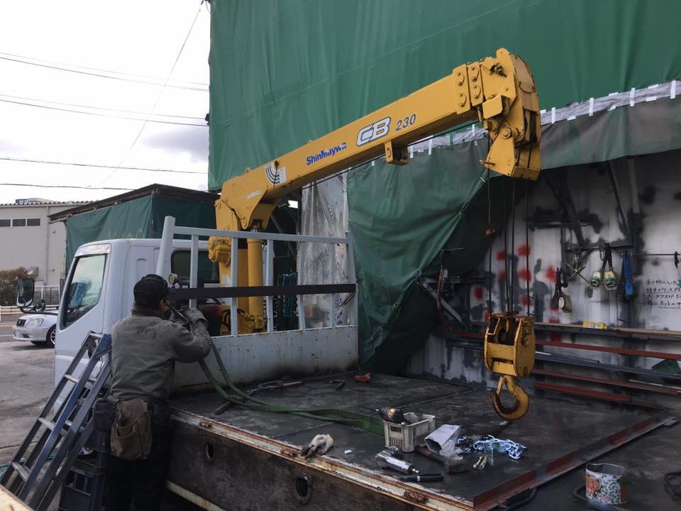 横ネタ・床の修理と床鉄板の架装 平ボディトラック10